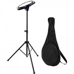 Drum Fire Drum Practice Pad with Stand and Free Carrying Bag