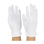 Cotton Gloves, White Large