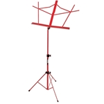 Folding Music Stand with Bag, Red