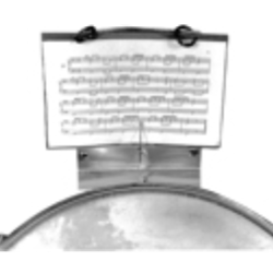 Drum Lyre for Snare & Tenors, with 5-page flip folder attached