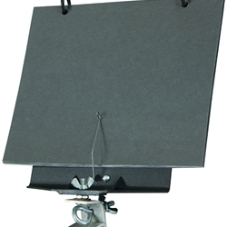 Drum Lyre for Bass Drum, with 5-page flip folder attached