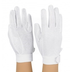 Velcro Grip Gloves, White Medium
